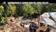 Sgomberato il campo rom del Foro Italico