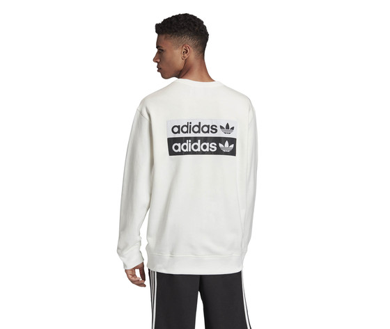 Felpa girocollo adidas r.y.v. crew sweatshirt bianca art. fm2261 1