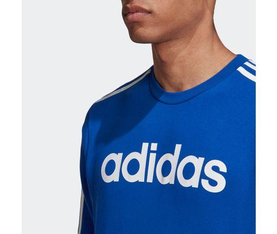 Felpa adidas blu con strisce bianche essentials 3 stripes art. gd5384 3