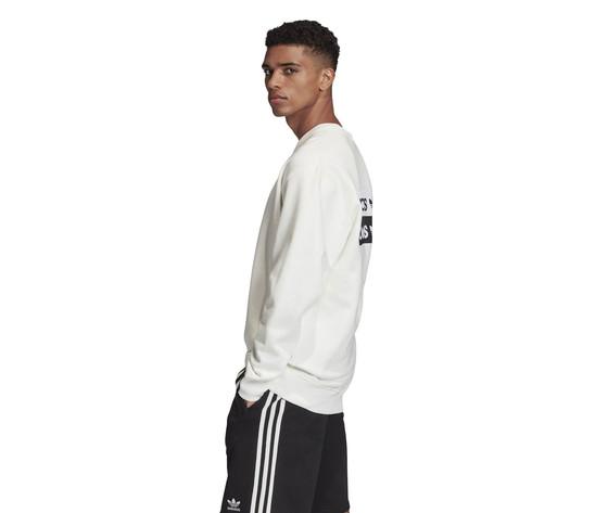 Felpa girocollo adidas r.y.v. crew sweatshirt bianca art. fm2261 2