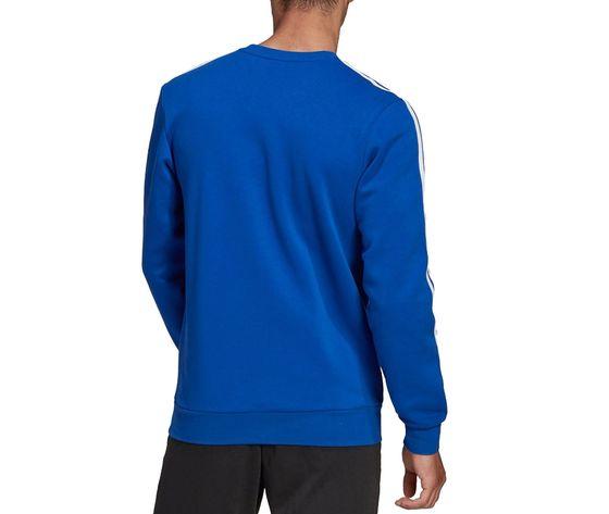 Felpa adidas blu con strisce bianche essentials 3 stripes art. gd5384 1