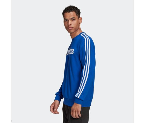 Felpa adidas blu con strisce bianche essentials 3 stripes art. gd5384 2